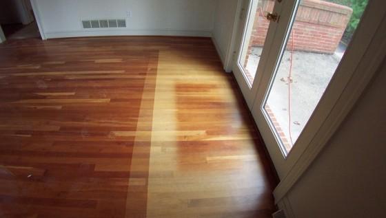 sun bleached hard wood floor