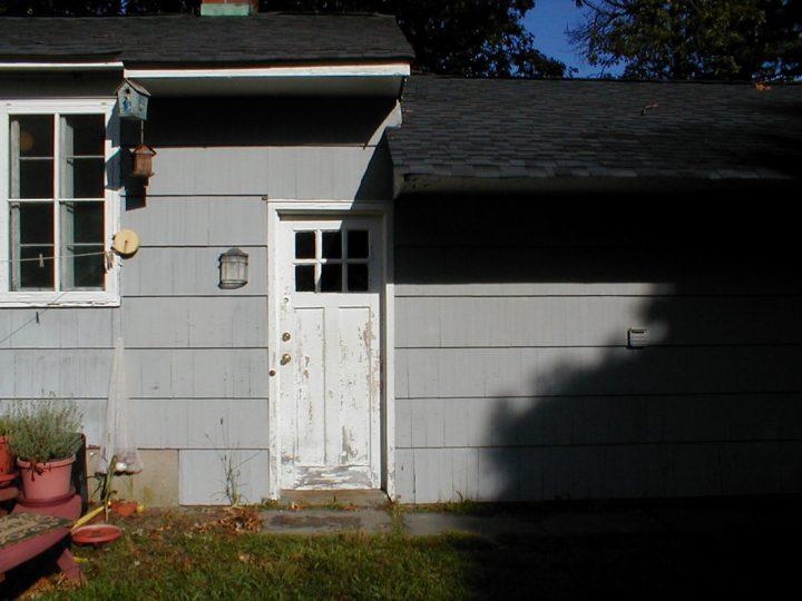 garage overhang before