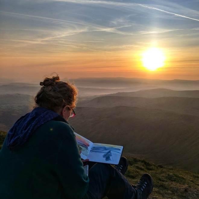 Vandy Massey, painting en plein air in Wales