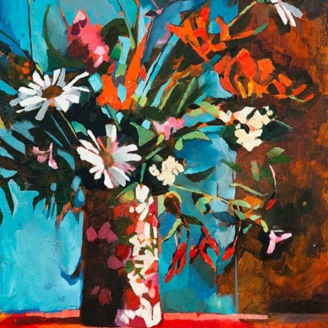 Aine Divine mixed media Flowers 2