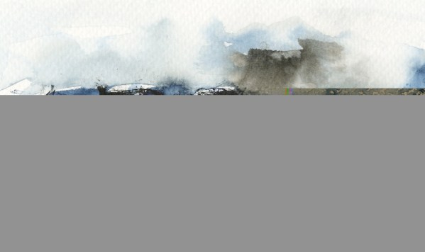 Tregardock Blue by Vandy Massey. 33 x 43 cm. Mixed media on paper. Detail 1