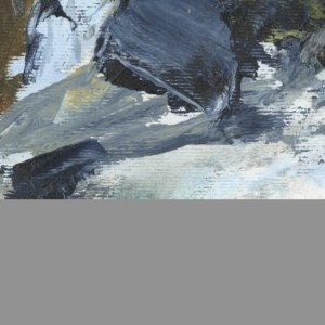 Moving Ice by Vandy Massey. 40 x 30 cm. Acrylic on Paper detail 2