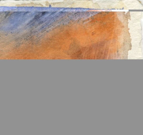 Beyond and Beyond by Vandy Massey. 21 x 15 cm. Watercolour on hand made khadi paper. Detail 1