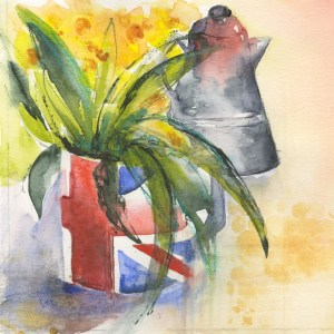 VMW00218 - Morning Coffee/ Watercolour on paper by Vandy Massey