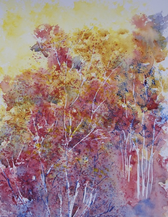 Painting Autumn: the burnt orange and yellow tones of the third season dot the landscape.