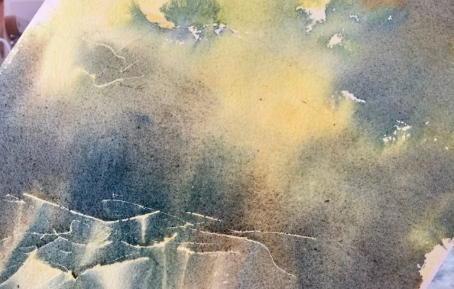 Should artists experiment - an Underwash of light and mid-tones in watercolour.