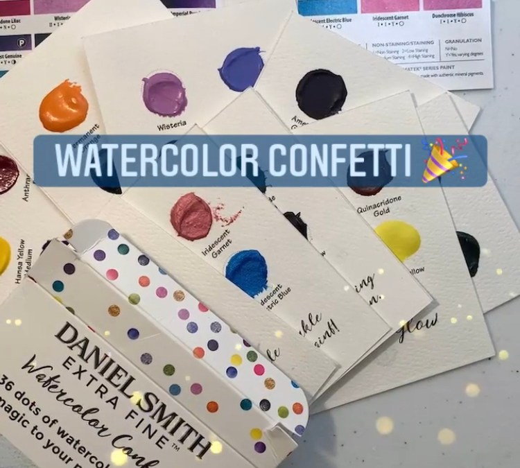 Daniel Smith Watercolours 36 dot cards