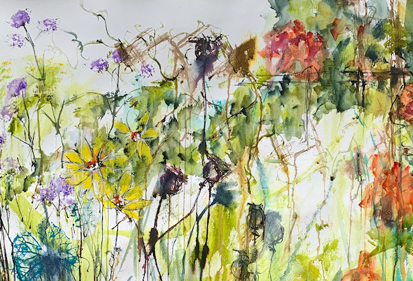 What my art taught me about myself. Watercolour painting Uncontained