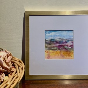 Little Landscapes in brushed brass frames