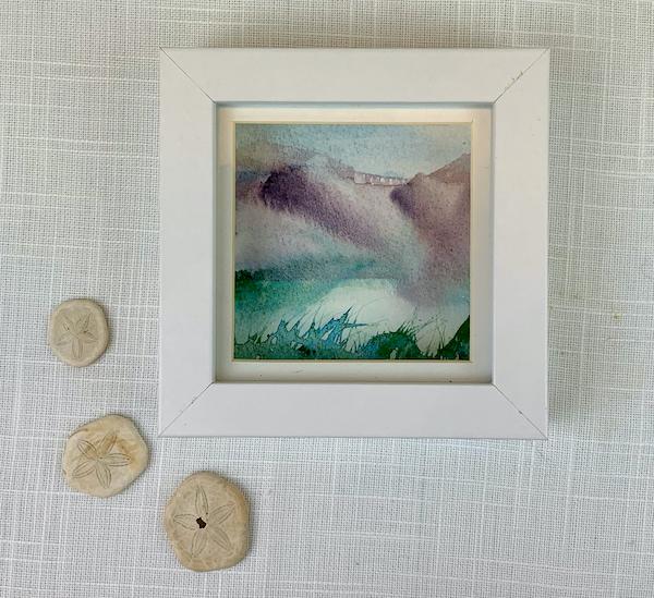White miniature landscape