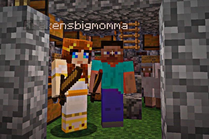 avatars on a tour of Minecraft