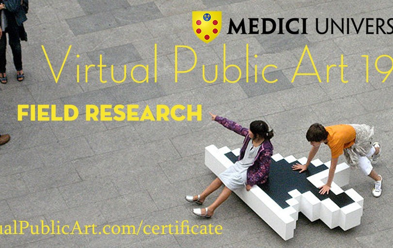 poster for Virtual Public Art 199, Field Research