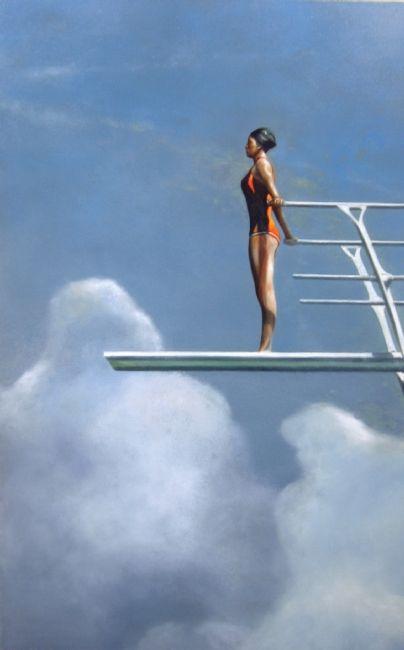 woman diving