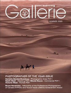 Cover image of Gallerie Magazine by Vanessa Dewson