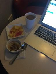 Oatmeal, Fruits and Coffee