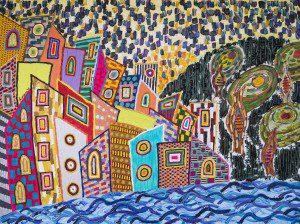 Mixed media on canvas, 90x120cm, 2015