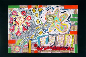Mixed media on canvas, 33x48cm, 2006