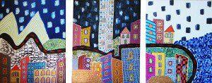 Mixed media on canvas, 240x100cm, 2014