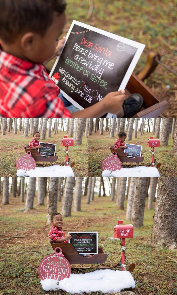 Christmas pregnancy announcement