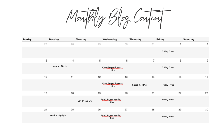 Tips on Creating a Month worth of Blog Content