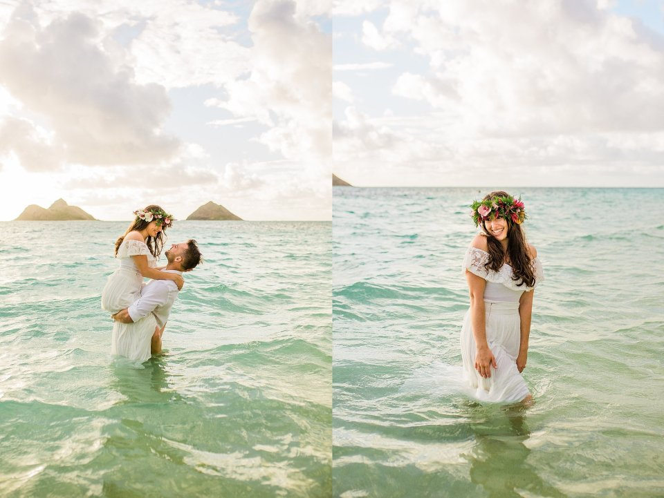 Sarah and Tom's Lanikai Beach Wedding