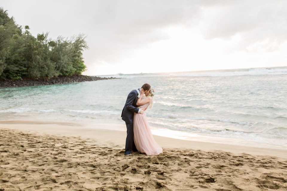 Tunnels Beach Wedding Pink Dress
