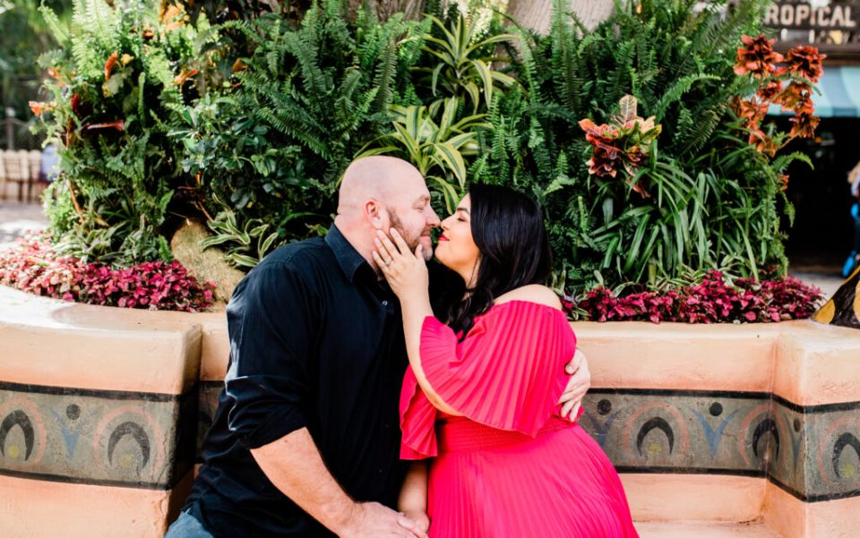 beautiful engagement session at disneyland parks in california