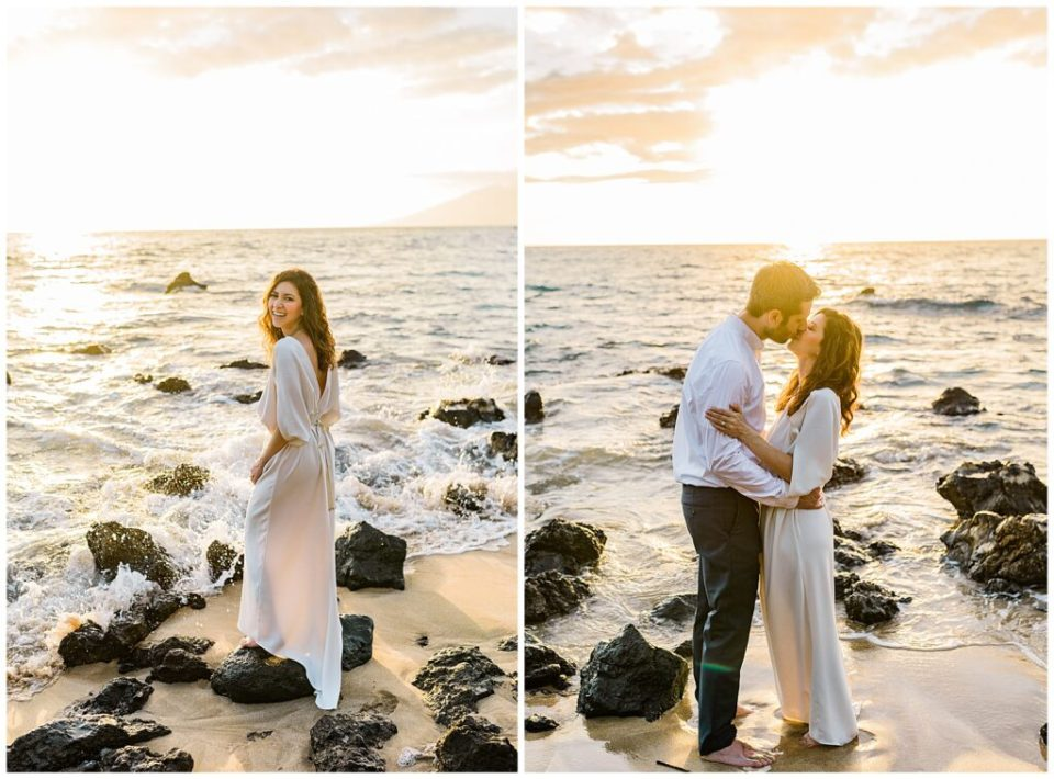 honeymoon photo session in Maui at sunset