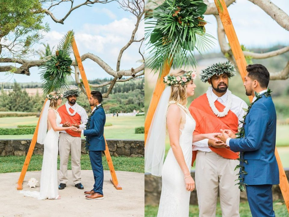couple getting married at steeple house wedding venue maui