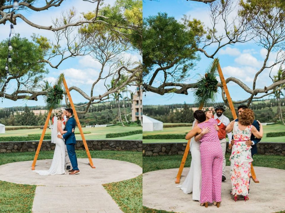 couple getting married in maui