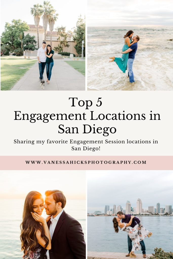 Top 5 Engagement Locations in San Diego  Vanessa Hicks Photography