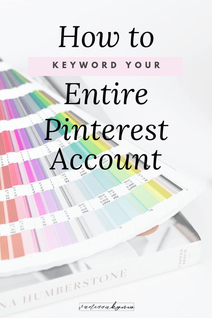 How to use keywords on Pinterest- Vanessa Kynes