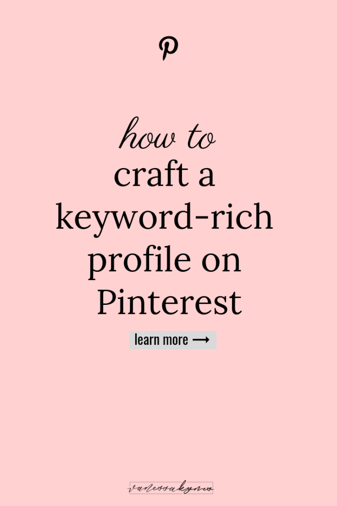 How to create a business profile on Pinterest- Vanessa Kynes