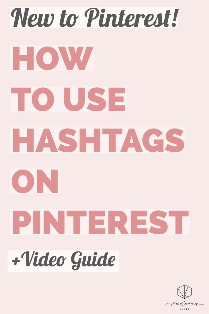 Are you using hashtags on Pinterest? Hashtags are now visible and being used on Pinterest.  This video tutorial will give you the top tips for using hashtags on Pinterest to get your pins discovered and drive traffic to your site. #pinteresttips #pinterestmarketing #hashtagsonpinterest #socialmediatips #pinterestforbusiness #creativesmallbusinesses