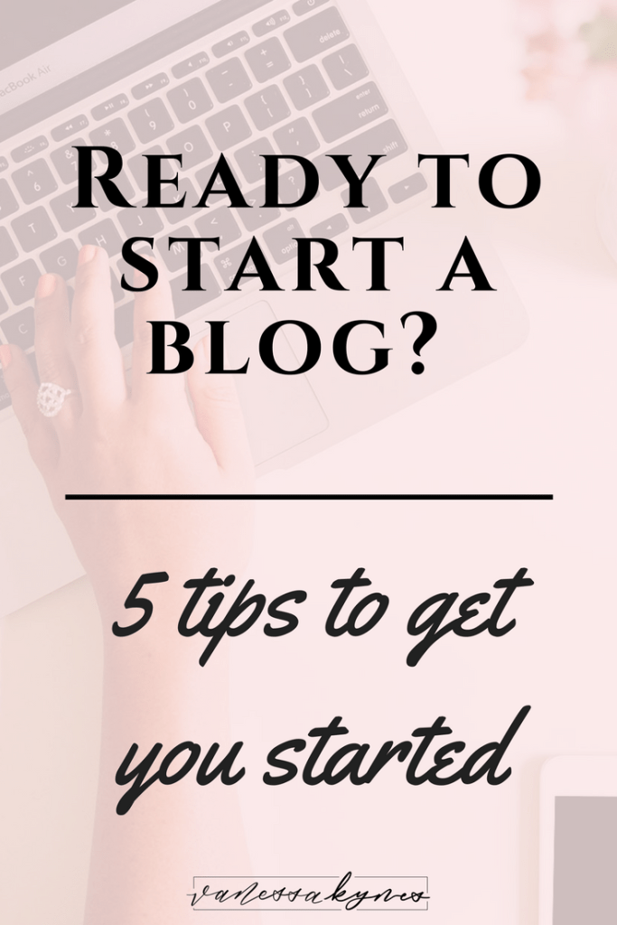 Do you want to get started blogging? I'm sharing 5 Tips to help you get started blogging. Your blog doesn't have to be perfect— be consistent and be yourself! #bloggingtips #bloggingresources #pinteresttips #seotips