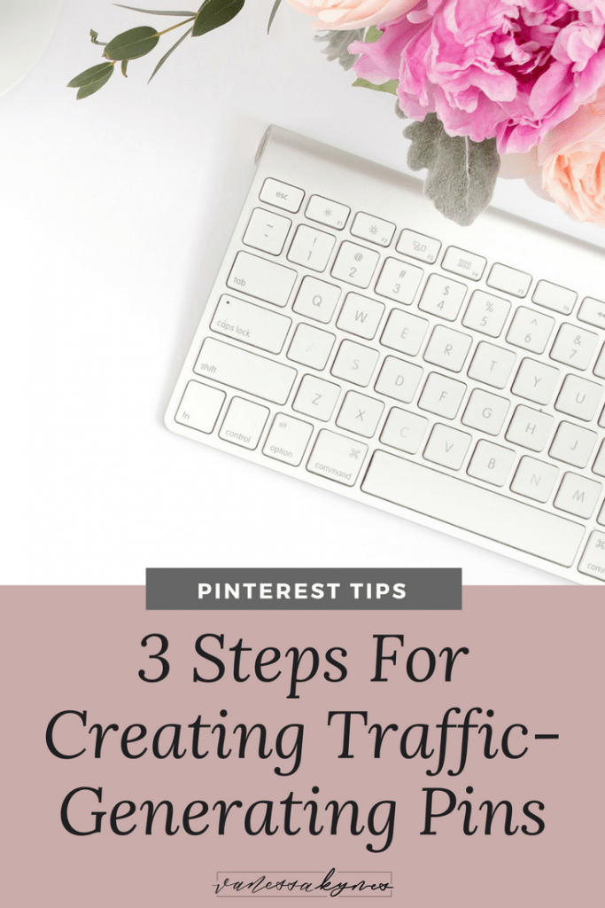 Creating Pinterest images that drive traffic to your site is an art! In this post, I'm sharing  3 Steps to create Pinterest images that generate traffic and lead to sales!