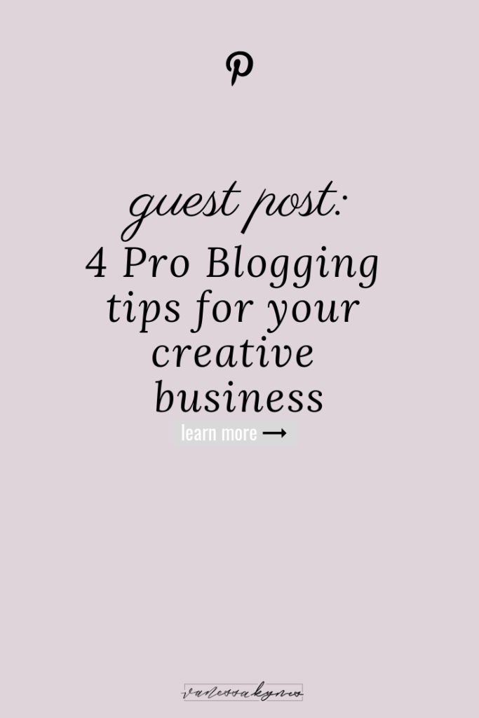 Blogging tips for your creative business-Vanessa Kynes