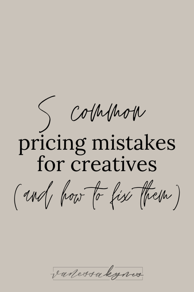 The most common pricing mistakes you might be making as a consultant- Vanessa Kynes