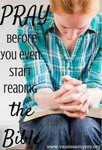 Pray before you even start reading (3)
