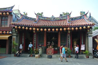 One of the many temples in Hsinchu