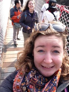 How I feel about being on suspension bridges