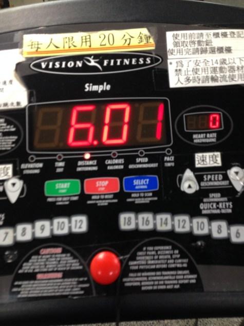 5K of running and 1K of walking