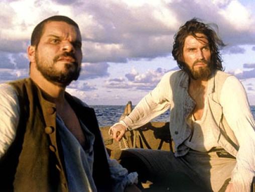O Conde com seu amigo pirata (à esquerda)