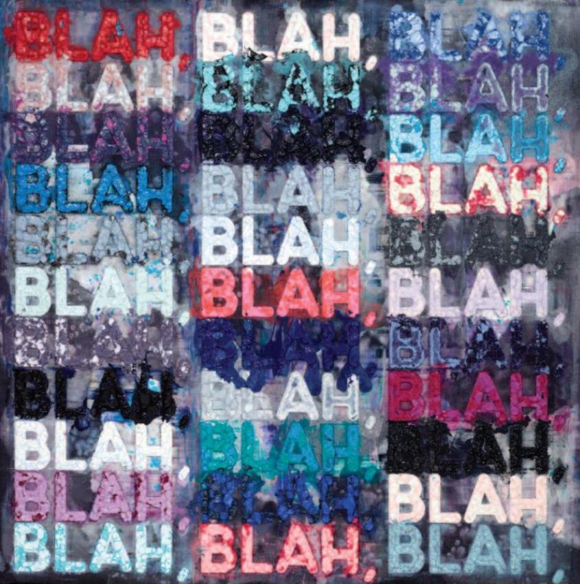 Mel Bochner Monoprint Blah Blah Square - Vanessa Villegas ...