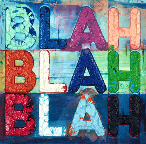 Mel Bochner Original Blah Blah - Vanessa Villegas Art Advisory