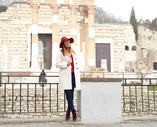 cappotto bianco outfit inverno