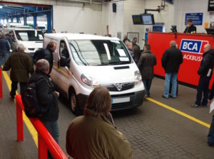 White van at BCA auction