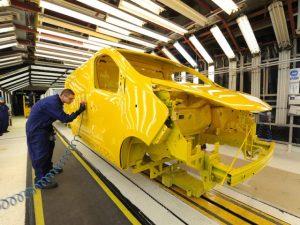 Vauxhall van production line in Luton