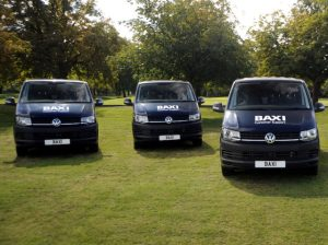 VW Transporters branded with Baxi logo