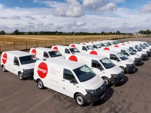 Fleet of Transporter vans for Omega Red Group